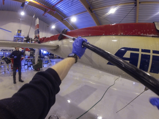 Here is an answer to the question many of you might be thinking. Are these pictures rigged? As you can see in this picture it looks like I am cleaning a helicopter, something I would never do. I think it would be unfair of me to deprive my loadmaster of his work. After all I wouldn't be happy if someone tried to steal my flight. So the answers is yes, many of these pictures are rigged, this one more than others.