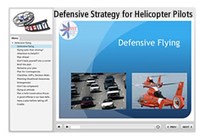Defensive Strategy for Helicopter Pilots